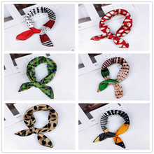 New Spring and Autumn Summer Small Scarf Square Women 's Professional Variety Decorative Printing Neckerchief Scarve