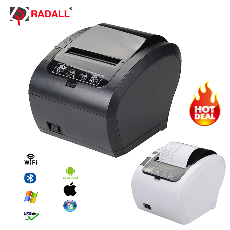 High Quality 80mm Thermal Receipt Printer Auto Cutter Bill Printer WIFI/Bluetooth/USB/LAN/RS232 Kitchen Restaurant POS Printer