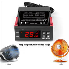 RZ STC-1000 12V 24V 220V Temperature Controller Digital LED Thermoregulator Thermostat For Incubator Relay 10A Heating Cooling