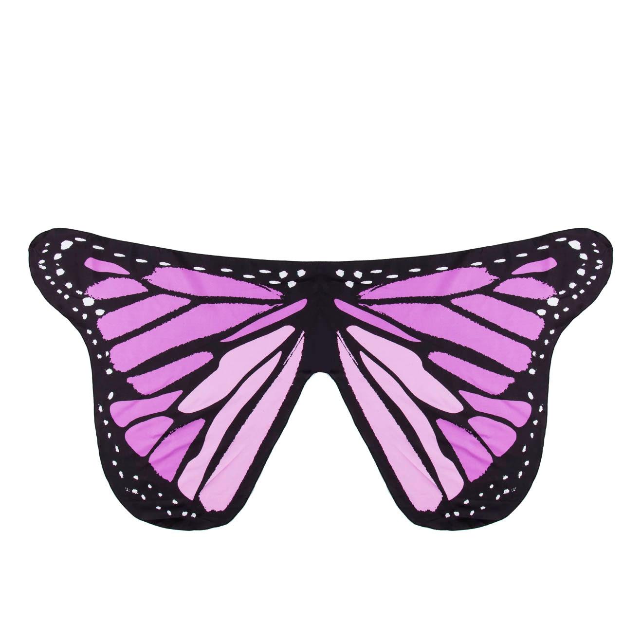 Pudcoco Детский шарф для девочек красивое крыло шаль бабочки шарфы летнее пляжное пончо костюм аксессуар пончо и накидки - Цвет: Фиолетовый