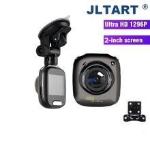 2.0 polegada tela mini carro dvr câmera completa hd 1296 p 160 graus lente dupla concha de metal traço cam g-sensor de visão noturna mini dashcam