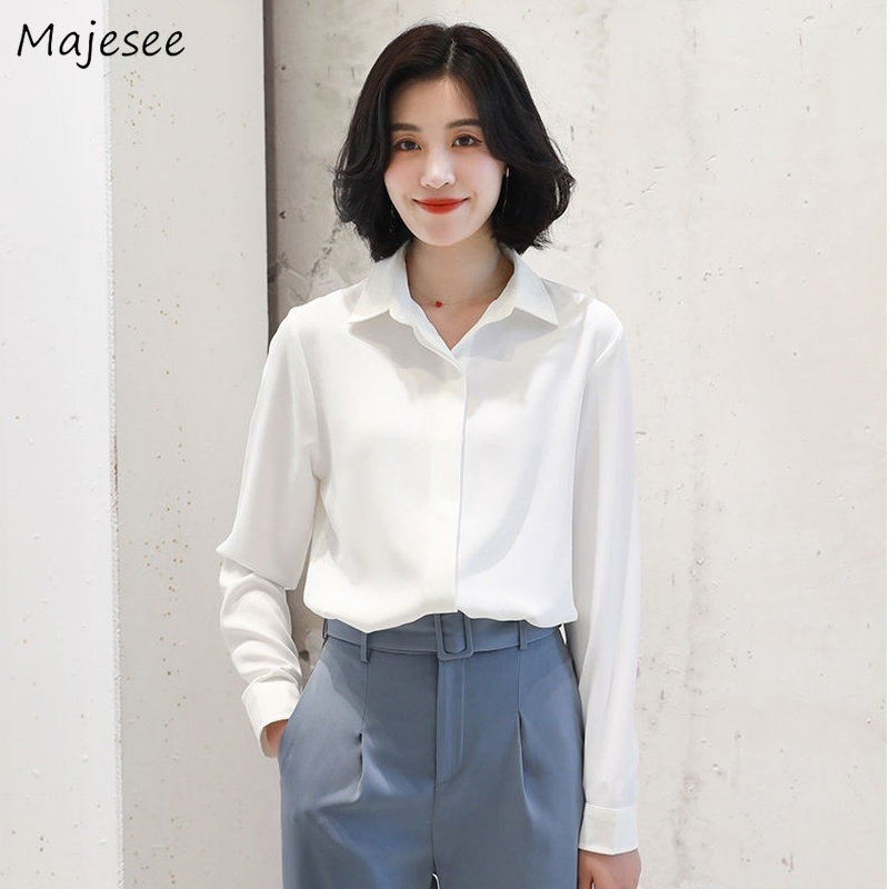 White Blouse Women Shirts Plus Size All Match Harajuku Clothes Slim 5XL Womens Tops and Blouses Korean Fashion Clothing Ladies