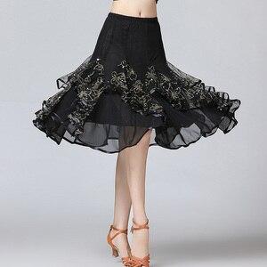 Image 2 - Sale New Ballroom Dance Skirts Women Latin Tango Modern Dancing Skirts National Standard Waltz Flamenco Competition Dance Dress