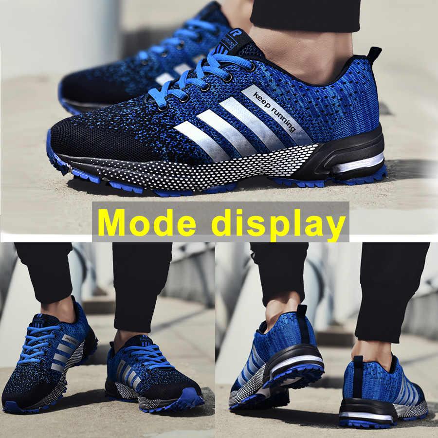 Moda erkek ayakkabıları taşınabilir nefes koşu ayakkabıları 46 büyük boy ayakkabı rahat yürüyüş koşu rahat ayakkabılar 48