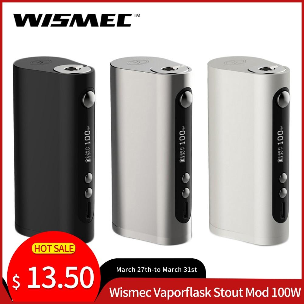 Original Wismec Vaporflask Stout Mod 100W TC/VW/Bypass Vape Mod Electronic Cigarette