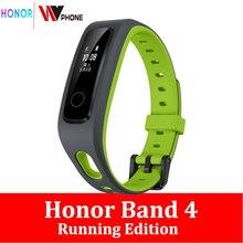 Honor מקורי להקת 4 ריצה מהדורת ספורט להקת נעלי לנד השפעה שינה צג חכם צמיד 50m עמיד למים