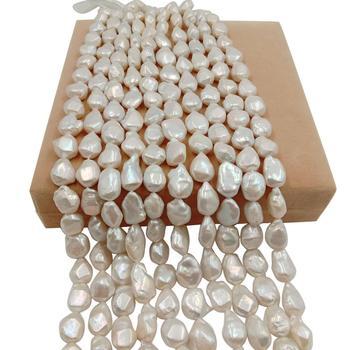 AAA high luster 16 inch 14x20 mm 100% Nature freshwater loose pearl with big corner baroque shape, BIG KESHI BAROQUE shape pearl