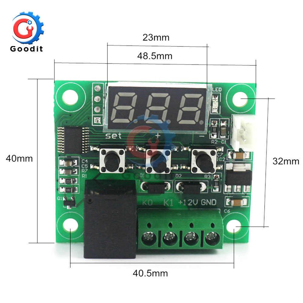 Digitale Regolatore di Temperatura del Termostato W1209 DC 12V Regolatore Termoregolatore Incubatore Sensore NTC Metro Caso di calore temperatura fresca