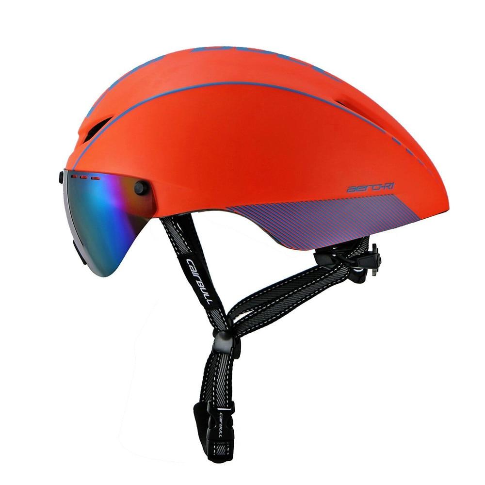 Spor ve Eğlence'ten Bisiklet Kaskı'de Entegral kalıplı bisiklet kask yarış emniyet kaskı bisiklet manyetik gözlük dağ yol bisiklet kask EPS M/L 54  60CM title=