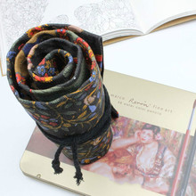 Color Pencil Bag Men's And Women's Case Volume Stationery Tree Canvas Handmade Cloth Pen Curtain 36/48/72 DC392