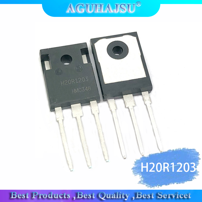 1PCS  H20R1203 R1203 TO-247 High Power 20A 1200V Inline Cooker IGBT Tube