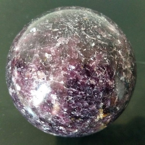 Image 2 - Natural lepidolite pedra bola de cristal casa decoração esfera cura cristais