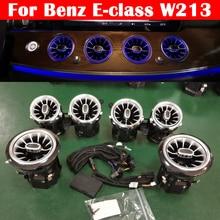64 צבע LED מנורת אווירת רכב לנץ e class W213 תקרת אוויר Vent טורבינת 3D הטוויטר Speeker אור הסביבה