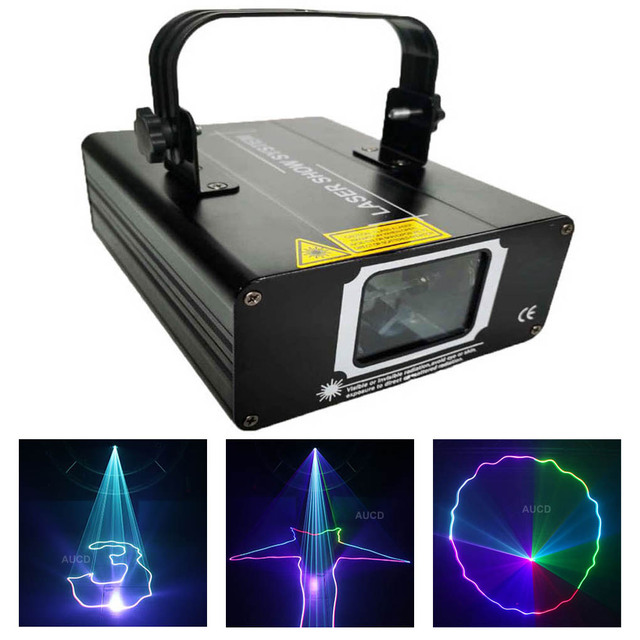 500mW RGB Color DMX Beam Stroboscope Lights Stage Scan Laser Music Light effect Projector Disco DJ Home Party Scanner Lighting
