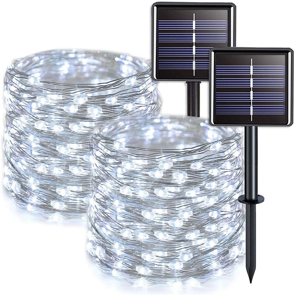 Outdoor Solar LED Fairy String Lights Garden Decorative Lights Holiday Decoration Lights