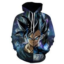 2019 latest animation Longzhu Z Super Saiyang hoodies Majin Buu/Goku/Vegeta men's and women's universal hoodie wholesale