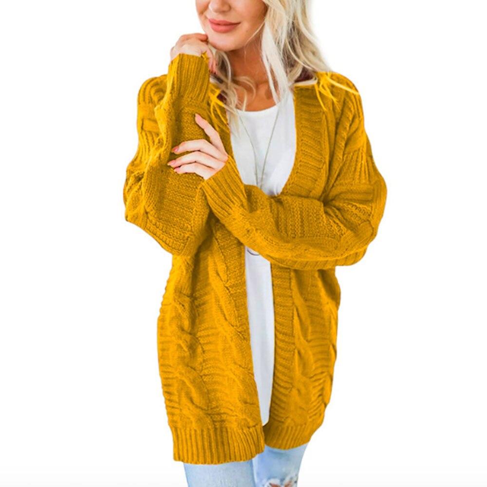 Laamei 2019 Open Front Cardigan Sweaters Winter Women Sweater Knitted Long Sleeve Knitwear Girls Casual Outerwear Femme Top