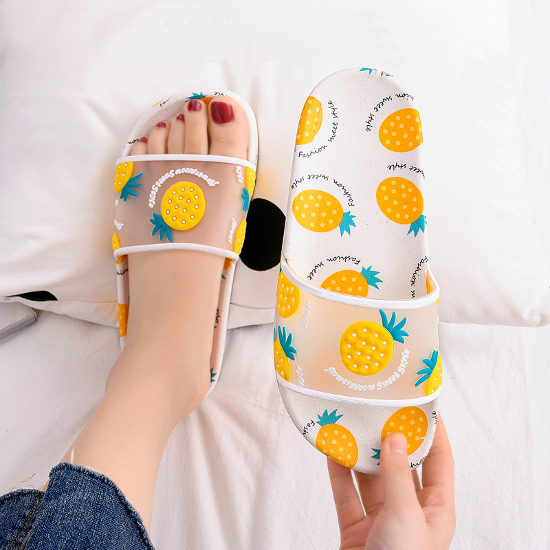 Women Summer Slippers Cartoon Strawberry peach Soft Sole Slides Home Slippers Outdoor Ladies Sandals Women Shoes Flip Flops 2