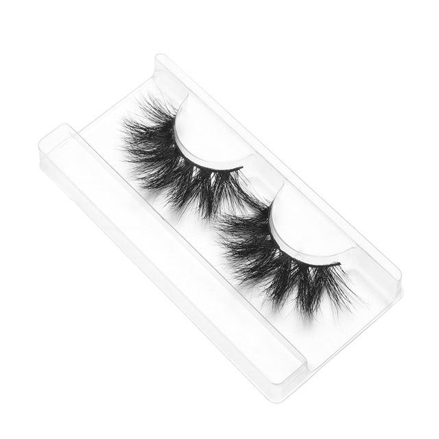 1 Pair 20mm 3D 100% Mink False Eyelashes Luxury Criss-cross Mink Lashes Fake Eyelash Handmade Dramatic Eyelashes Makeup Tools 3