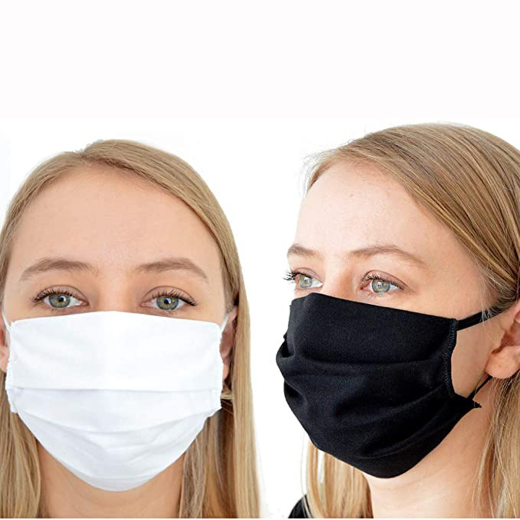 1 Pcs Face Mask Unisex Dustproof Cotton Mask Mascarillas Reusable Anti-fog Dust Mouth Face Mask Outdoor Washable Black White