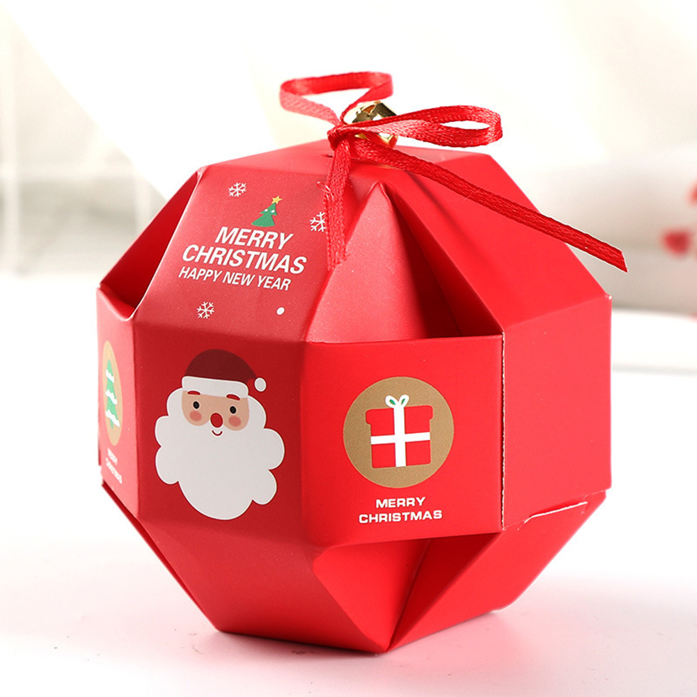 Christmas Gift Carrier Boxes Party Favours Cookie Sweet Biscuit Candy Treat Pack