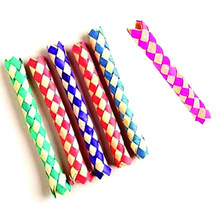 Free ship Wholesale 144pc Cheap Chinese Finger Trap Magic Trick Joke Toys Party Favors Gifts Loot Bag Fillers Give Away