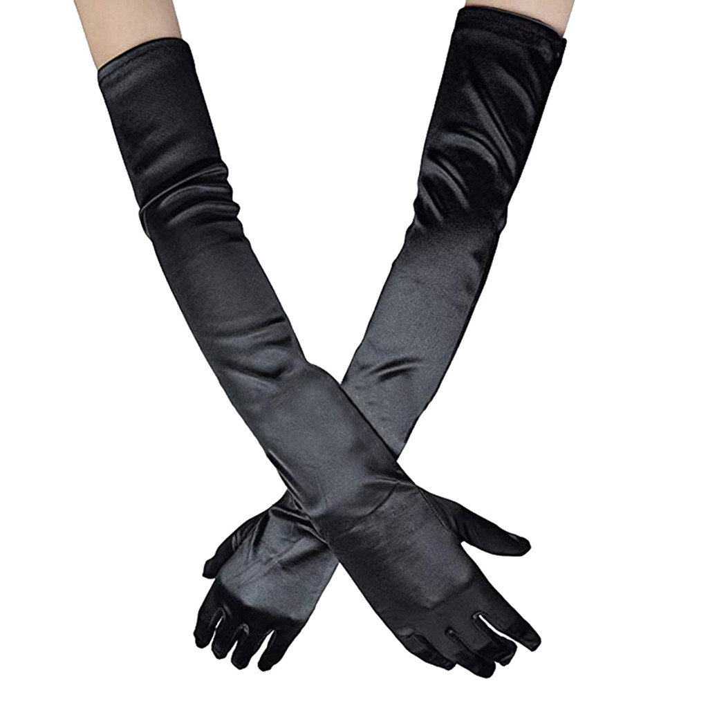 Are You Sure Not To Click In And See? Adult Women Cosplay Gloves Long Sexy Evening Performance Dress Gloves Purchasing