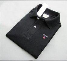 Рубашка-поло мужская хлопковая, брендовая футболка с коротким рукавом, летняя одежда