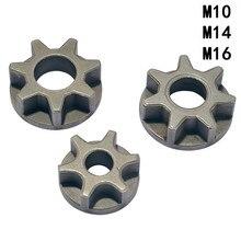Engrenage de tronçonneuse M10/M14/M16 pour engrenage de remplacement, outils électriques de meuleuse dangle divers, support de tronçonneuse pour le travail du bois