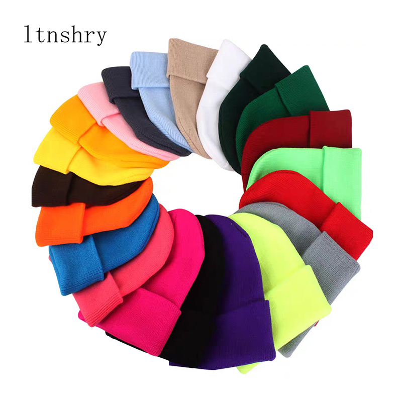 Winter Hats For Men Woman New Beanies Knitted Solid Cute Hat Girls Autumn Female Beanie Caps Warmer Bonnet Ladies Casual Cap