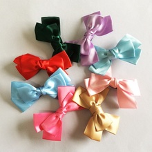 цены 1 Pcs/lot Hair Accessories Girls Hair Clips Ribbon Bow Hairpins Barrettes Headwear Boutique Wholesale