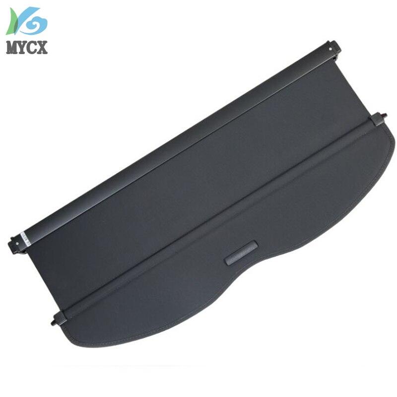 Couverture de cargaison de bouclier de sécurité de coffre arrière d'alliage d'aluminium + tissu pour Nissan Qashqai J11 2014 2015 2016 accessoires de voiture - 3
