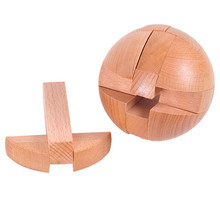 Unlock-Toy Wood for Kids Ball-Shaped-Lock Educational-Puzzle Puzzle-Diameter 6cm Children