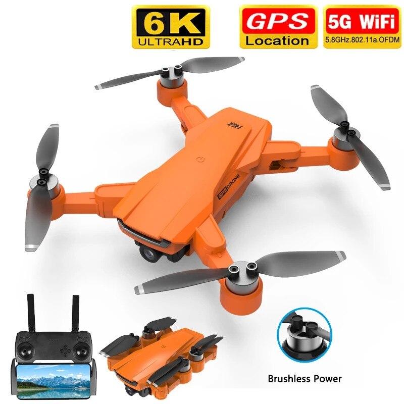 Novo zangão gps com câmera hd 6k 1080p 5g wifi fpv 25 minutos de longa distância sem escova do motor rc quadcopter profissional dron pk sg907