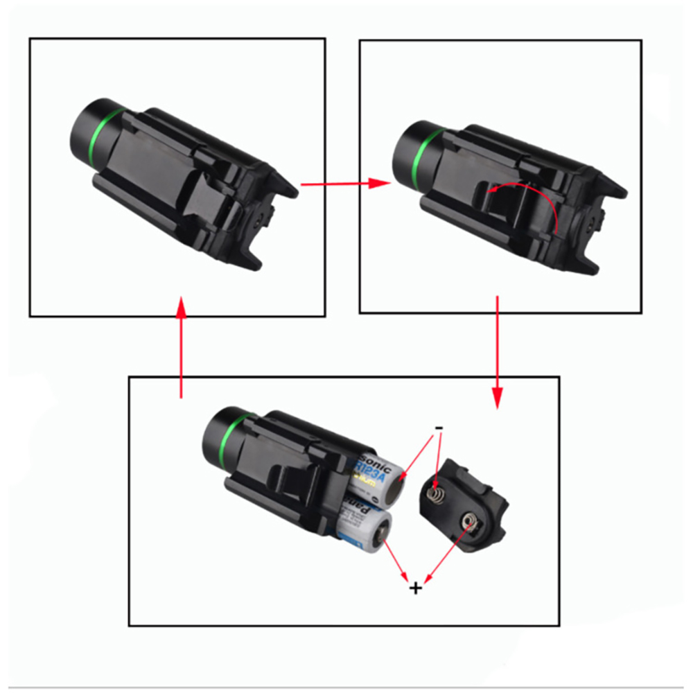 Tactical Combo Metal Green Red Dot Laser Sight LED Laser Flashlight with 20mm Rail Weaver Picatinny Fit For 20mm Rail Gun Glock-4