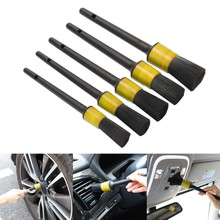 Car Detailing Brush Natural Boar Hair Cleaning Brushes Auto Detail Tools