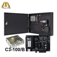 C3 100 One Door Access Control Panel TCP/IP Access Control Board With Battery Function Power Supply Protect Box Door Controller