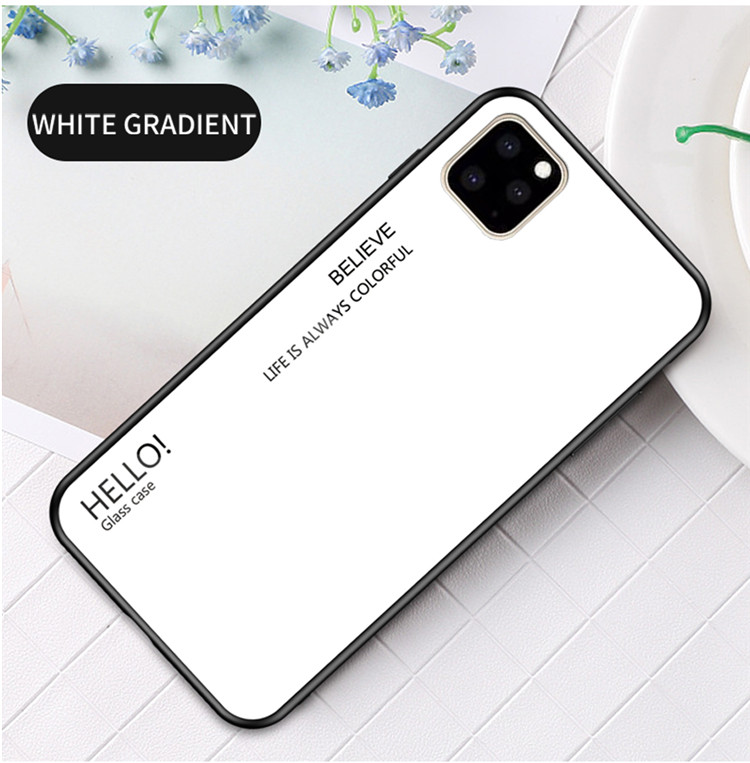 Ollyden Gradient Tempered Glass Cases for iPhone 11/11 Pro/11 Pro Max 15