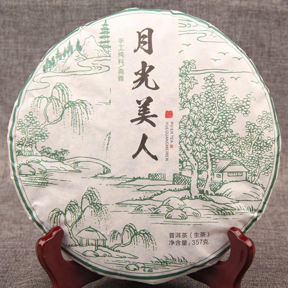 2018 Year YUGUANGMEIREN Organic Moonlight Beauty Puer Moonlight Sheng Pu-erh Raw Tea 357g