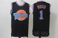 Classic Complex Space Jam Film Version Bugs1 No. Embroidered Jersey Basketball Wear White And Black(China)