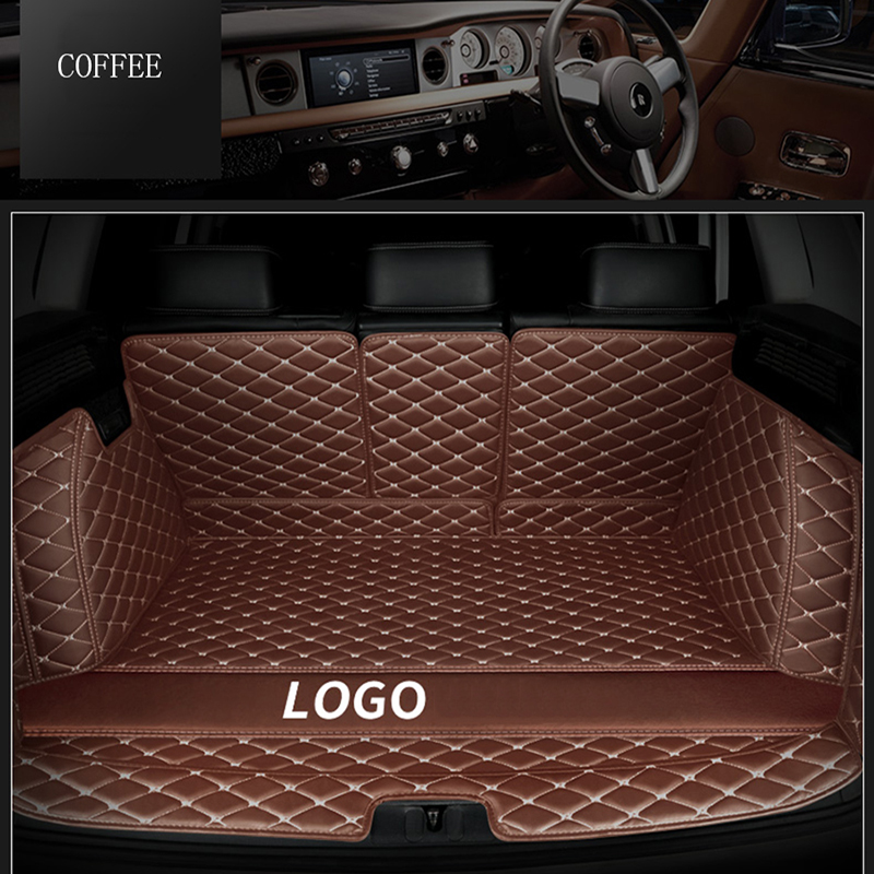 Custom Logo Car Trunk Mats For Cadillac ESCALADE SRX CT6 ATSL XT5 XTS All Models Auto Accessories Car Mats