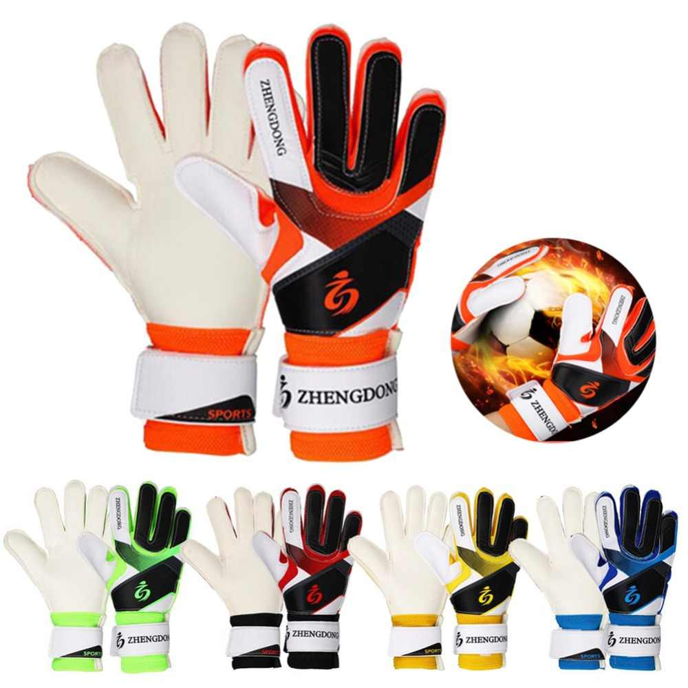 Football Goalkeeper Mittens Professional Children Youth Adult Non-slip Training Thickened Latex Soccer Goalie Gloves Ball Game