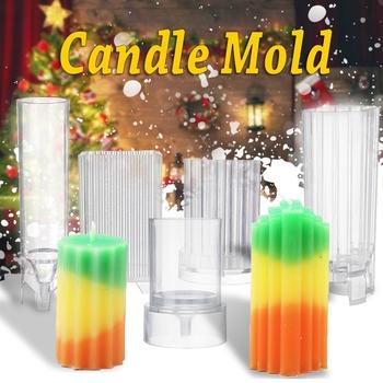 5 sztuk formy świec do odlewania świec formy mydło wyrabiane ręcznie formy gliny narzędzia rękodzielnicze DIY z tworzywa sztucznego formy świec tanie i dobre opinie