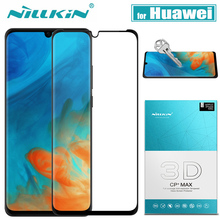Huawei P30/P20 Pro Cam Ekran Koruyucu Nillkin 3D Tam Kapsama Güvenlik Koruyucu Cam Huawei Mate 20 Pro temperli Cam