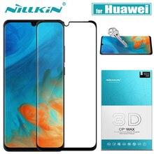 Protector de pantalla de vidrio Nillkin 3D para Huawei Protector de pantalla de vidrio templado para Huawei Mate 20 Pro, cobertura completa, P30/P20 Pro