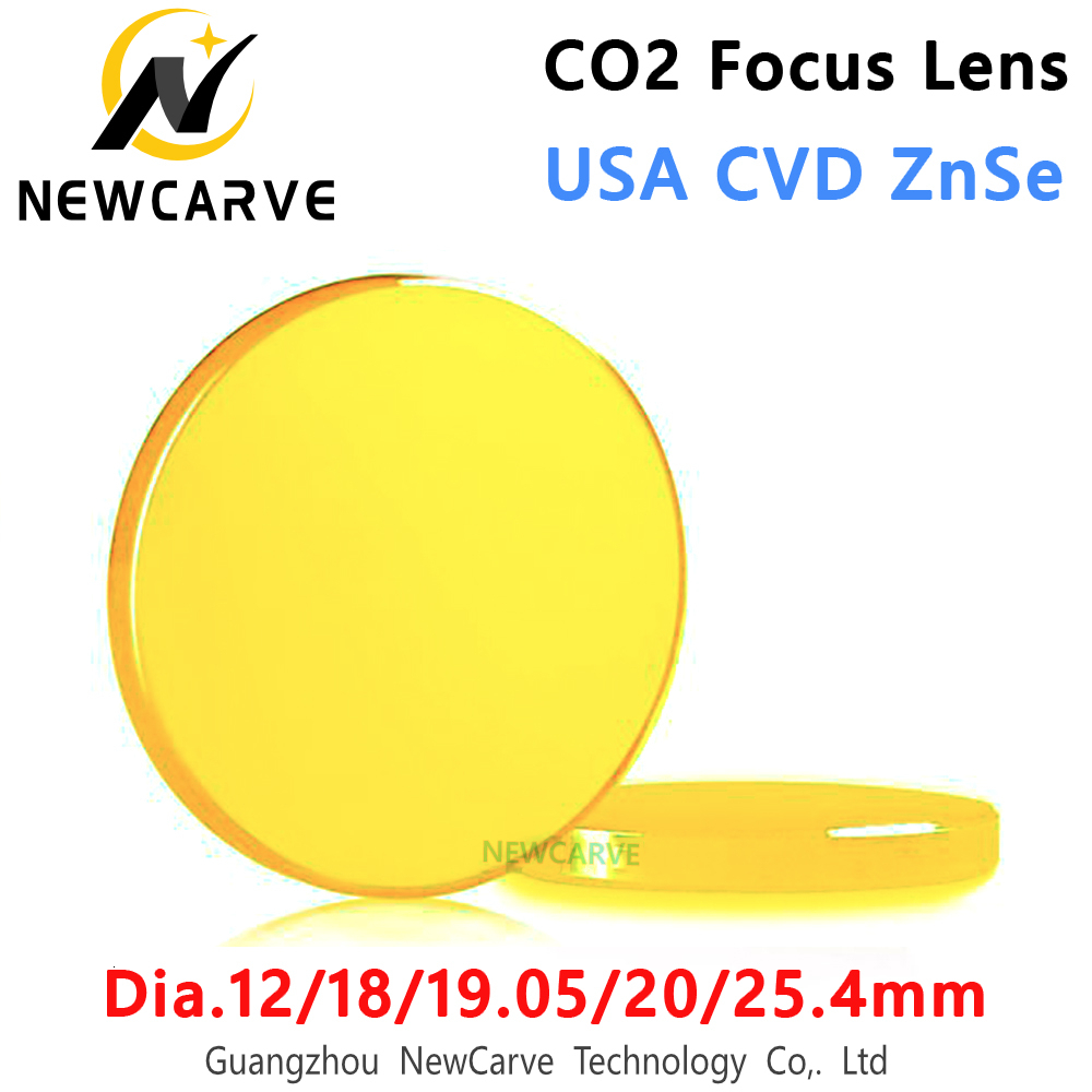 USA ZnSe CO2 Focus Lens Dia 12-25.4mm FL50.8/63.5/101.6/127mm 1.5 - 5
