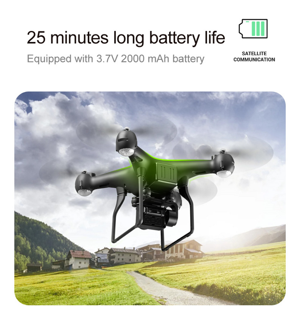 S32T4K Quadcopter Drone with 1080p HD camera and 4 LED for Kids 24