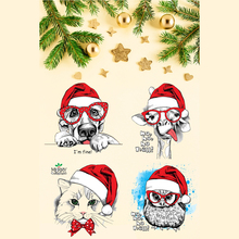 Merry Christmas Clear Stamps Cutting die For DIY Scrapbooking/Card Making/Album Decorative Rubber Stamp Crafts merry christmas trees sticker painting stencils for diy scrapbooking stamps home decor paper card template decoration album