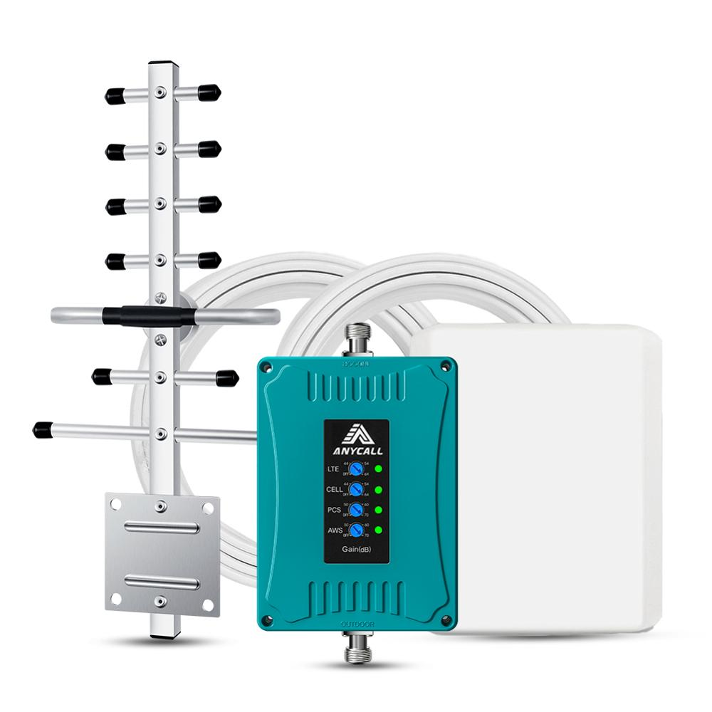 US/CA Cell Phone Signal Booster For Home 850/1700/1900/700MHz  3G 4G LTE Cellular Repeater For All US Carriers Verizon T-Mobile