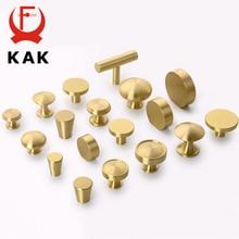 KAK Brass Furniture Handles Copper Cabinet Knobs Wardrobe Dresser Drawer Knobs Kitchen Cupboard Chinese Style Door Handle Pulls